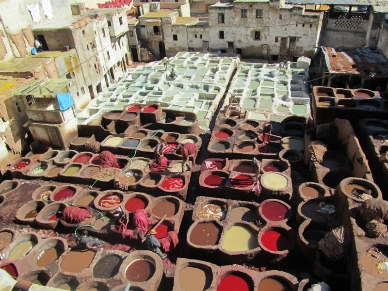 Morocco Tour, Fes Tannery, Morocco