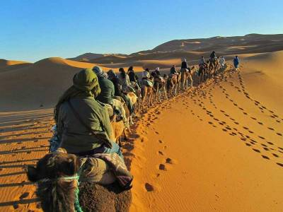 Overnight Sahara Camel Trek, Merzouga, Morocco
