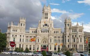 Cibeles Palace, City Hall, Madrid, Spain