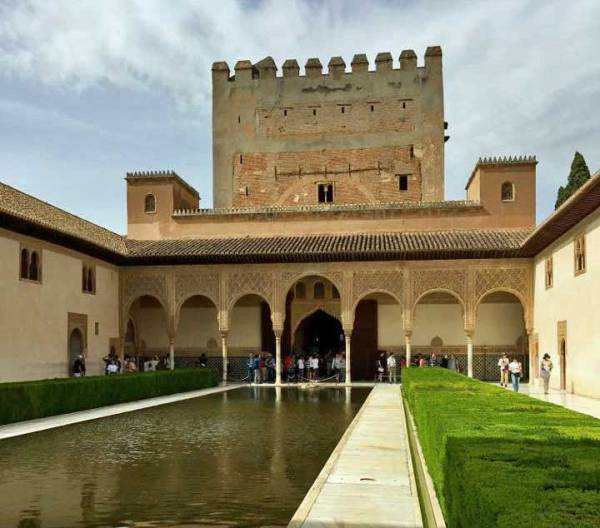 Court of the Myrtles, Alhambra Tour, Granada