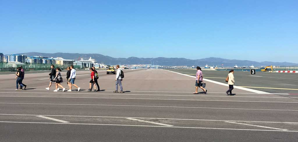 Gibraltar Airport Runway Crossing, Gibraltar Tour