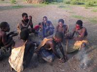 Hadzabe Men Making Fire, Lake Eyasi Safari
