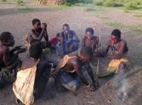 Hadzabe Men Making Fire, Lake Eyasi Safari