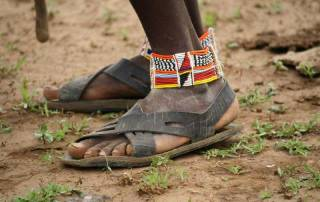 Maasai Car Tire Sandals, Amboseli Safari