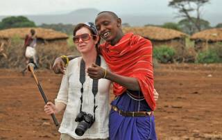 Maasai Warrior proposes to Tracie, Amboseli Safari