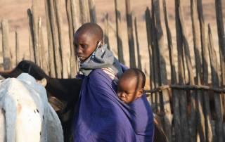 Maasai Woman and Child, Maasai Boma Safari