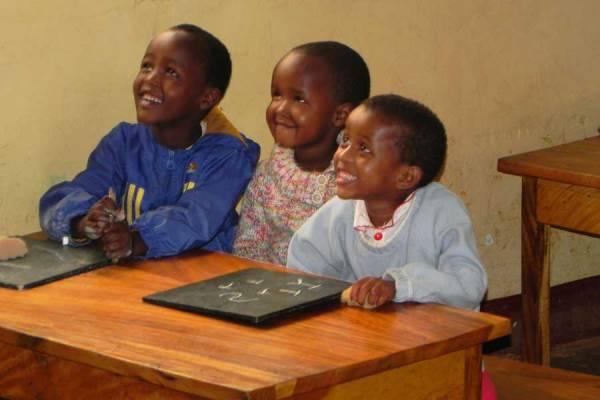 Marangu Safari Kindergarten shared desk, Tanzania