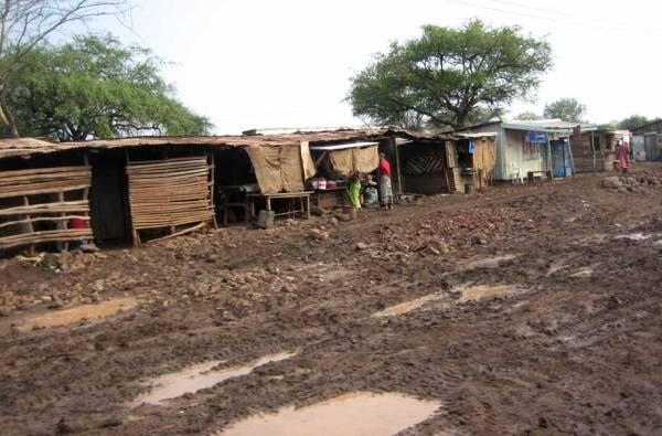 Muddy Road to Lake Manyara Wildlife Lodge, Tanzania