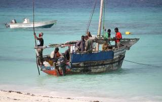 Nungwi Beach, Fishing Dhow, Zanzibar Tour