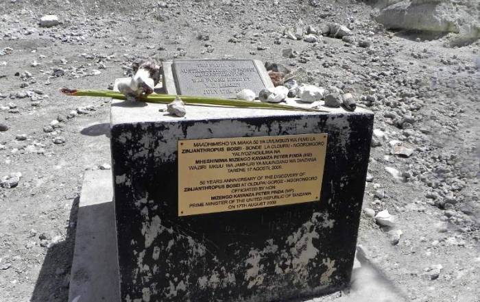 Olduvai Gorge Monument to Louis Leaky Discovery