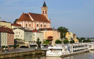 River Cruising, Danube River, Passau, St Paul Church