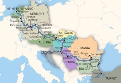 River Cruising, Rhine - Danube Map