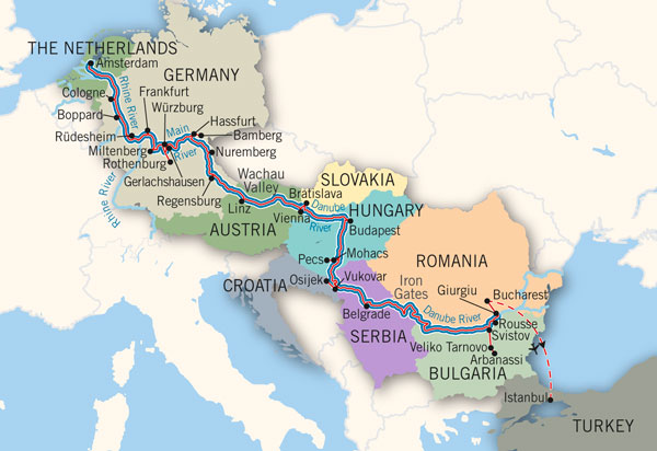 Seine River On Map Of Europe.River Cruising Fleets Staterooms Dining River Routes Orana Travel