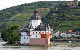 River Cruising, Rhine River, Pfalzgrafenstein Castle