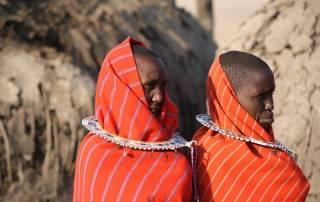 Two Maasai Women, Maasai Boma Safari