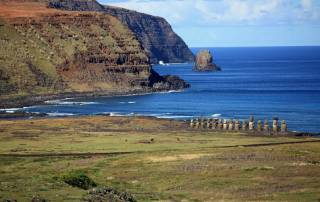 Ahu Tongariki from Rano Raraku, Visit Easter Island