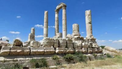 Amman Citadel Ruins, Exodus Travels Jordan Tour