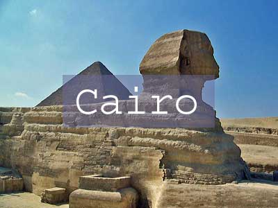 Cairo Title Page, Sphinx