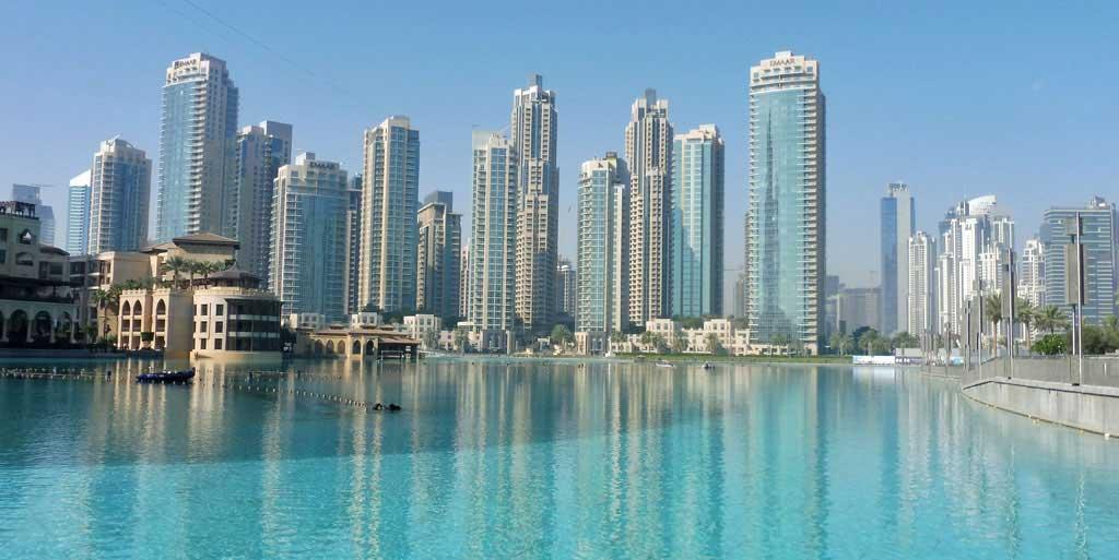 Dubai Fountains Before Shows Start