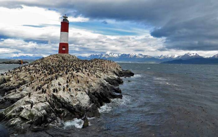 Les Eclaireurs Lighthouse at the End of the World, Beagle Channel Cruise