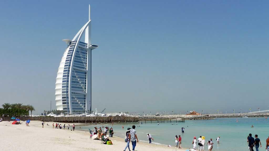 Emirates Visit, Burj al Arab, Jumeirah Beach