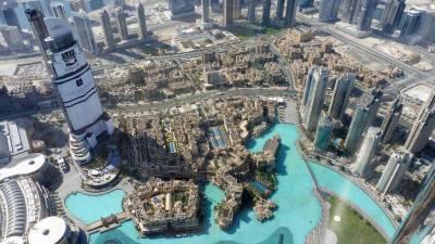 Emirates Visit, Damaged Address Hotel from 124th Floor Burj Khalifa