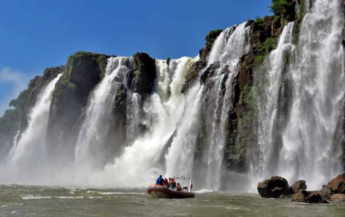 Iguazú Falls Argentina Visit, River Cruise about to get wet