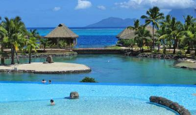 InterContinental Tahiti, Infinity Pool and Lagoon, Visit Tahiti