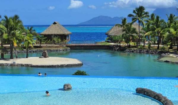 InterContinental Tahiti, Infinity Pool and Lagoon, Visit Tahiti