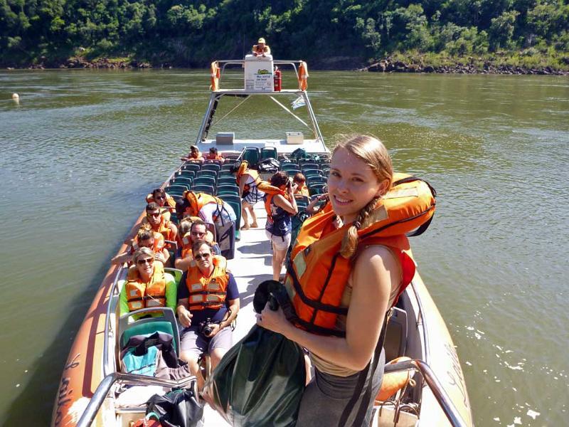 Kathryn, Iguazú River Cruise, Iguazú Falls Argentina Visit