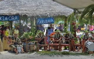 Local Greeting, Rotoava, Fakarava Shore Excursion, Tender Pier