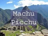 Machu Picchu Title Page