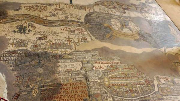 Madaba Mosaic Map, Exodus Travels Jordan Tour