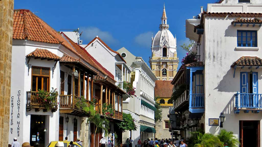 Old Town, Old Walled City, Visit Cartagena Cathedral, Colombia