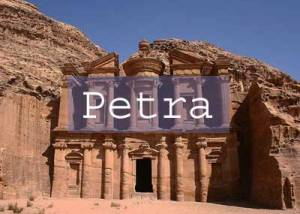 Petra Title Page, Monastery