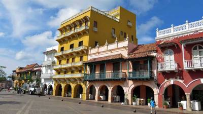 Plaza de los Coches, Old Walled City Town, Visit Cartagena, Colombia