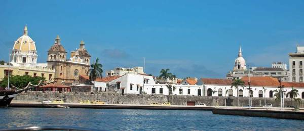 San Pedro Claver Church on left, Old City, Visit Cartagena, Colombia