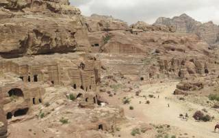 Street of Facades and-Amphitheater, Petra