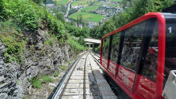 Switzerland Train Trip, Harder Kulm Funicular