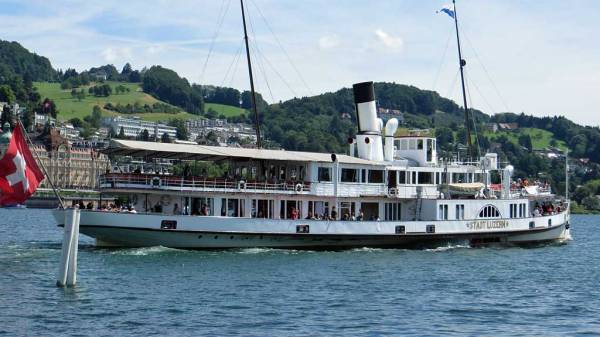 Switzerland Train Trip, Lake Lucerne Steamer