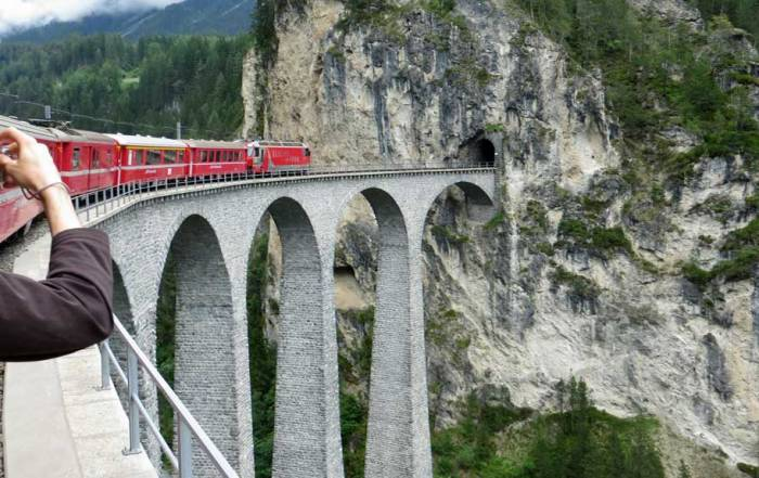 Switzerland Train Trip, Landwasser Viaduct