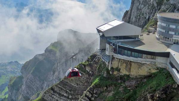 Switzerland Train Trip, Pilatus Gondola