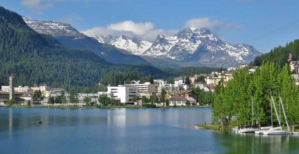 Switzerland Train Trip, St Moritz