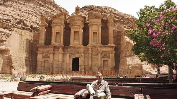 Tim at the Monastery, Visit Petra