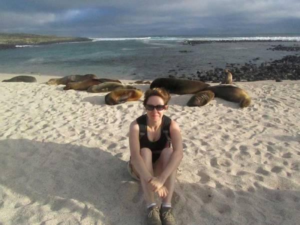 Tracie, La Loberia, Galapagos Sea Lions, Galápagos Land Based Tour