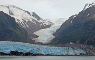 Amalia Glacier Ice Flows, Chilean Fjords