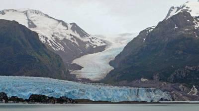 Amalia Glacier Ice Flows, Chilean Fjords