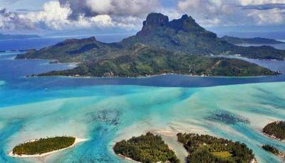Visit Bora Bora Airplane View, French Polynesia