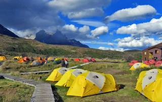 Camping at Lodge Paine Grande, Visit Torres del Paine