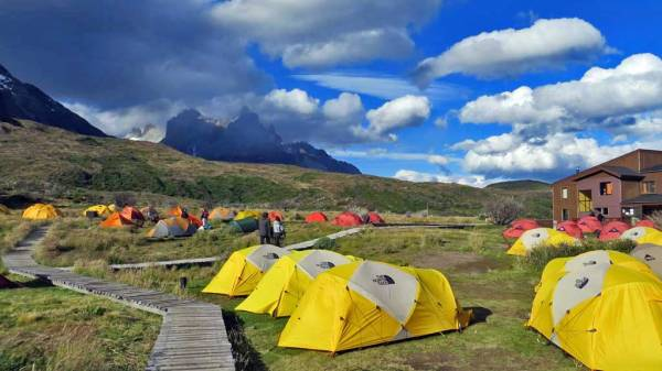 Camping at Lodge Paine Grande, Visit Torres del Paine